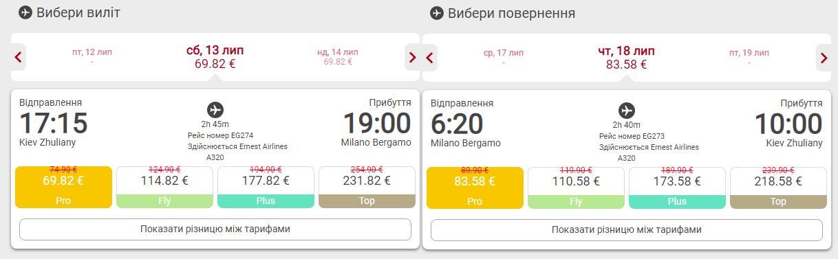 Киев - Милан